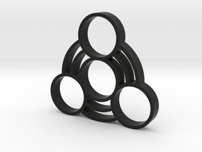 Fidget Spinner 1 in Black Strong & Flexible