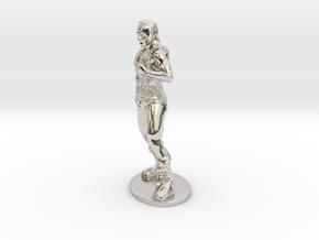 Half-Orc Miniature in Platinum: 1:55