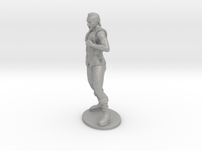 Half-Orc Miniature in Aluminum: 1:55