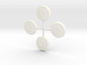 VWT1  Wieldoppen/Wheel covers in White Strong & Flexible Polished