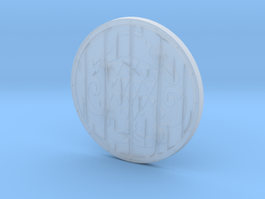 """BotW"" Fisherman's Shield in Smooth Fine Detail Plastic: 1:12"