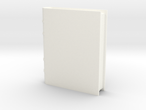 Book Generic 1 in White Processed Versatile Plastic