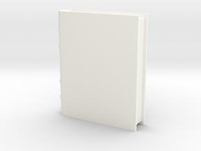 Book Generic 1 in White Processed Versatile Plastic