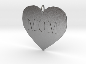 Mom Pendant in Natural Silver