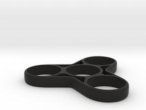 Fidget Spinner 2 in Black Natural Versatile Plastic