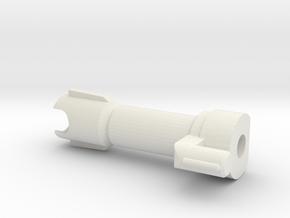 MTMTE Megatron Cannon Barrel in White Natural Versatile Plastic