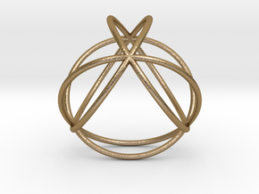 "TetraSphere 1.8"" in Polished Gold Steel"