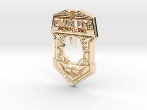 Black Ops II logo in 14K Yellow Gold