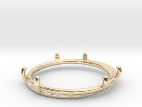 Double ring moebius bi metal   8 3/4 in 14K Yellow Gold