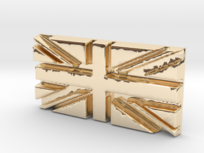 British flag in 14k Gold Plated