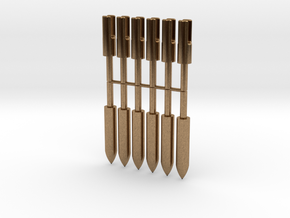 1:3 Scale Bronze Target Points And Nocks in Natural Brass