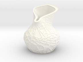 Lily Vase in White Strong & Flexible Polished