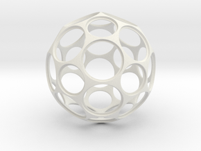 Coin Ball 25 1 in White Natural Versatile Plastic