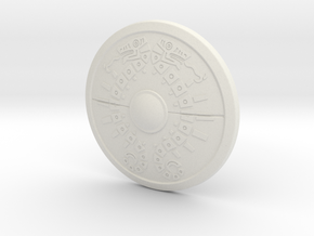 """BotW"" Traveler's Shield in White Natural Versatile Plastic: 1:12"