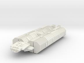 BSG Geminon Freighter in White Strong & Flexible
