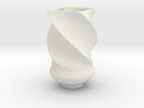 Vase in Polished Bronze Steel