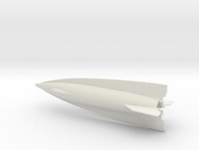 1:285 A-9 Rocket in White Natural Versatile Plastic