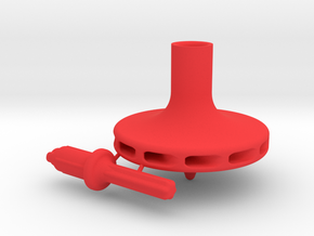 Straw Turbo Spinning Top in Red Strong & Flexible Polished