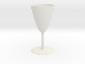 Goblet in White Natural Versatile Plastic