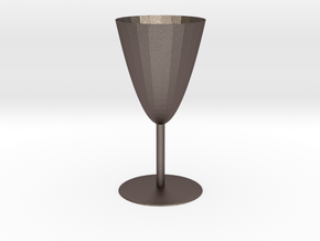 Goblet in Polished Bronzed Silver Steel