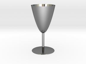 Goblet in Fine Detail Polished Silver