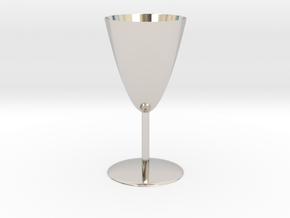 Goblet in Rhodium Plated Brass