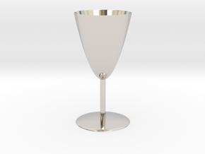 Goblet in Rhodium Plated Brass