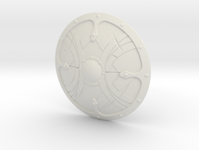 """BotW"" Soldier's Shield in White Natural Versatile Plastic: 1:12"