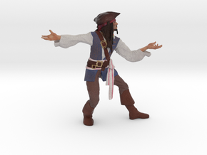 Johnny Depp 3D Model ready for 3d print in Full Color Sandstone