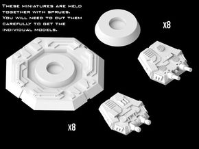 (Armada) Imperial Turrets Set in Smooth Fine Detail Plastic