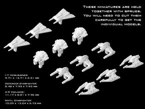 (Armada) Pirate Fighters Set III in Smooth Fine Detail Plastic