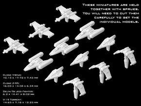 (Armada) Republic Fighters Set II in Smooth Fine Detail Plastic