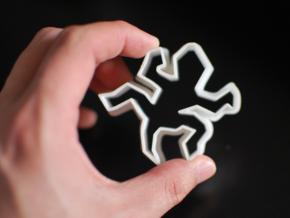 Escher-esque Famous Lizards Cookie Cutter in White Natural Versatile Plastic