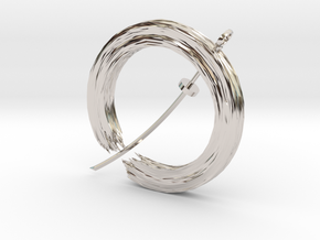 Soul In Flight Pendant in Rhodium Plated Brass