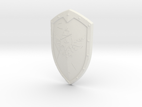 """BotW"" Knight's Shield in White Natural Versatile Plastic: 1:12"
