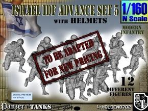 1-160 IDF HELMET ADVANCE SET 5 in Transparent Acrylic