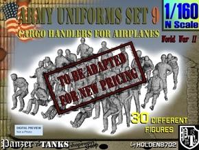 1-160 Army Modern Uniforms Set9 in Transparent Acrylic