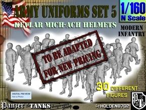 1-160 Army Modern Uniforms Set5 in Transparent Acrylic