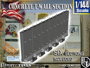1-144 Concrete T-Wall Section Set in White Natural Versatile Plastic
