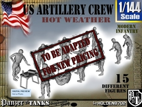 1-144 US Artillery Crew Hot Weather in Transparent Acrylic