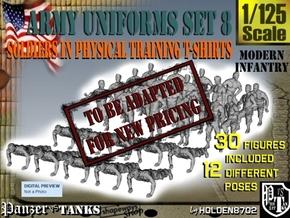 1-125 Army Modern Uniforms SET 8 in Transparent Acrylic