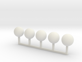 Parkhecke Buchsbaum Kugel 1:120 in White Natural Versatile Plastic