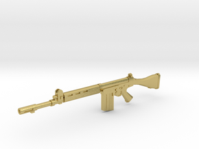 FN FAL 1:18 scale in Natural Brass