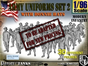 1-96 Army Modern Uniforms Set2 in Transparent Acrylic