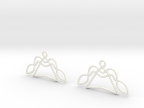 Celtic Weave Earrings - WE003 in White Processed Versatile Plastic