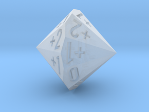 d18 as 2dF (Double Fudge Dice In One Bipolar Die) in Smooth Fine Detail Plastic