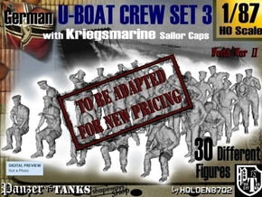 1-87 German U-Boot Crew Set3 in Transparent Acrylic
