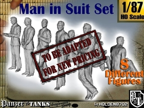 1-87 Man In Suit SET in Transparent Acrylic