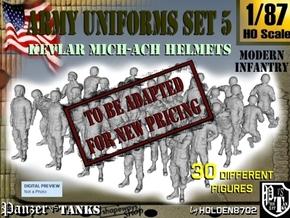 1-87 Army Modern Uniforms Set5 in Transparent Acrylic