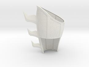 Batman Begins- Bruce training L gauntlet Pt. 1 in White Natural Versatile Plastic
